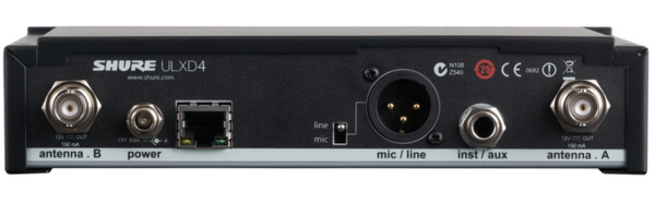 ULX-D DIGITAL SINGLE-CHANNEL WIRELESS RACKMOUNT RECEIVER / HALF-RACK / RECEIVER COMPONENT ONLY