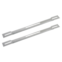 CHANNEL SUPPORTS WITH ADJUSTABLE SLOT & FLAT NUT