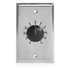 10W SINGLE GANG STAINLESS STEEL 70V COMMERCIAL VOLUME CONTROL