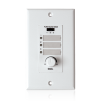 WALL PLATE INPUT SELECT SWITCH WITH VOLUME CONTROL 10K POT AND INPUT INDICATOR