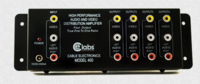 1 IN,4 OUT COMPOSITE AUDIO/VIDEO DISTRIBUTION AMP