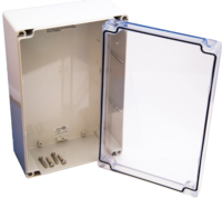 "ENCLOSURE ROHS, NEMA 4X,  9.25"" X 6.25"" X 3.63"" W/CLEAR COVER (TSS4)"