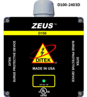 240 VAC 3 PHASE DELTA, 3W(+G), 100KA, SPD TYPE 1 & 2, UL1449  LISTED
