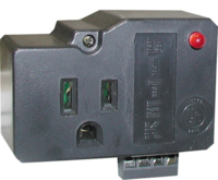 SECURITY CONTROL PANEL POWER AND DIALER PROTECTION - SINGLE OUTLET PLUG IN PROTECTION FOR 120VAC