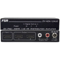 1X2 HDMI DISTRIBUTION AMPLIFIER WITH BUILT-IN AUDIO DE-EMBEDDER