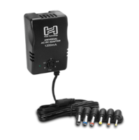 UNIVERSAL POWER ADAPTOR, SELECTABLE UP TO 12 VDC 1200 MA