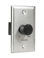 VOLUME CONTROL 100W, 1.5DB-STEP, 1-GANG STAINLESS STEEL