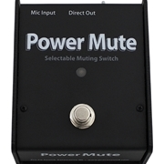 POWER MUTE ,  ACTIVE MICROPHONE MUTING PEDAL WITH POWER SUPPLY, STATUS INDICATOR LIGHT