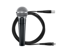 CARDIOID DYNAMIC SM58 VOCAL MICROPHONE KIT WITH 25' XLR CABLE, STAND ADAPTER, & ZIPPERED POUCH