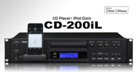 PROFESSIONAL SINGLE CD PLAYER WITH BUILT-IN 30-PIN & LIGHTNING DOCK FOR AUDIO OUTPUT & CHARGING
