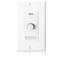 WALL PLATE 10KOHM LEVEL CONTROL / WHITE DECOR STYLE PLATE / FITS A SINGLE GANG ELECTRICAL OUTLET