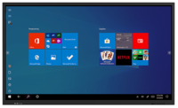 "75"" LITETOUCH 4K ANTI-GLARE TOUCH SCREEN WITH BUILT IN WINDOWS 10 PRO PC WITH INTEL I5 8500,"