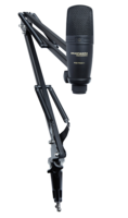 USB CARDIOID MICROPHONE W/FULLY-ADJUSTABLE SUSPENSION BOOM ARM STAND & USB CABLE