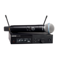 WIRELESS VOCAL SYSTEM WITH SLXD4 RECEIVER AND SLXD2/BETA58 HANDHELD TRANSMITTER W/ BETA58 MIC