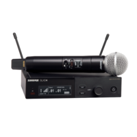 WIRELESS VOCAL SYSTEM WITH SLXD4 RECEIVER AND SLXD2/SM58 HANDHELD TRANSMITTER WITH SM58 MICROPHONE
