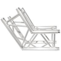 290MM (12IN) TRUSS, 2-WAY, 120 CORNER (6PCS MAKES A HEXAGON) (INCLUDES 1 SET OF CONNECTORS)